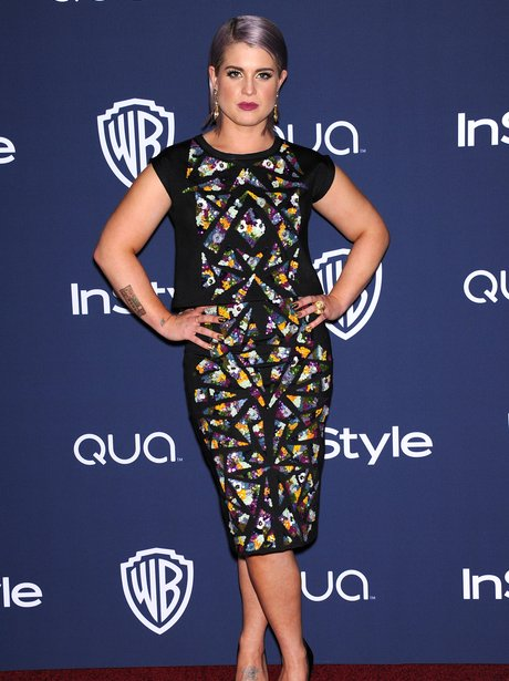 Kelly Osbourne at the Golden Globe Awards aftersho