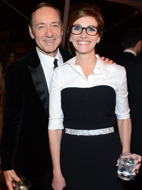 Kevin Spacey and Julia Roberts at the Golden Globe