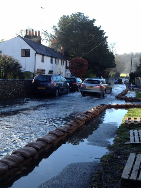 Hambledon flooding January 2014