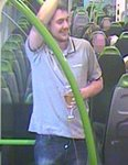 CCTV released after a man glassed on train