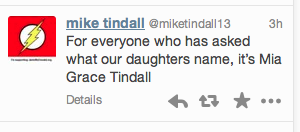 Mike Tindall's Twitter