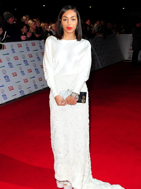 Zaraah Abrahams on the red carpet