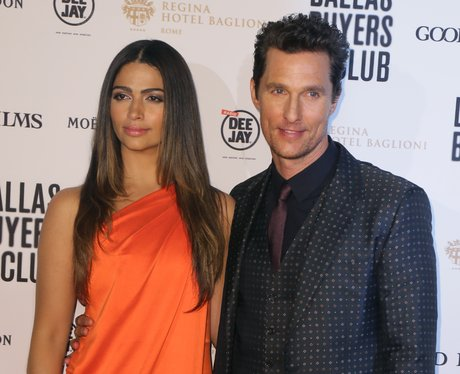 Camila Alves and actor Matthew McConaughey on the red carpet