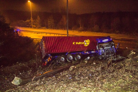 lorry m27 hampshire