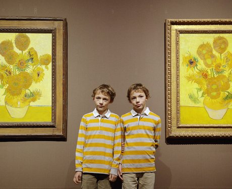 boys in yellow by the sunflowers by van gogh