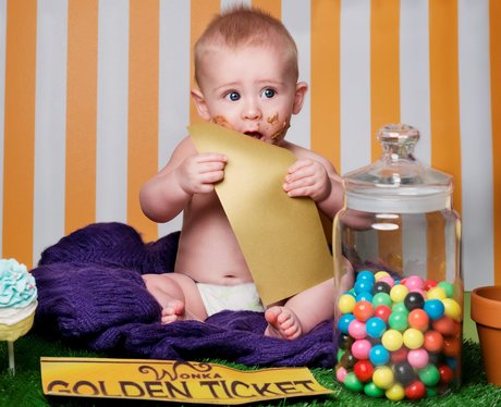 A baby recreates Charlie and the Chocolate factory