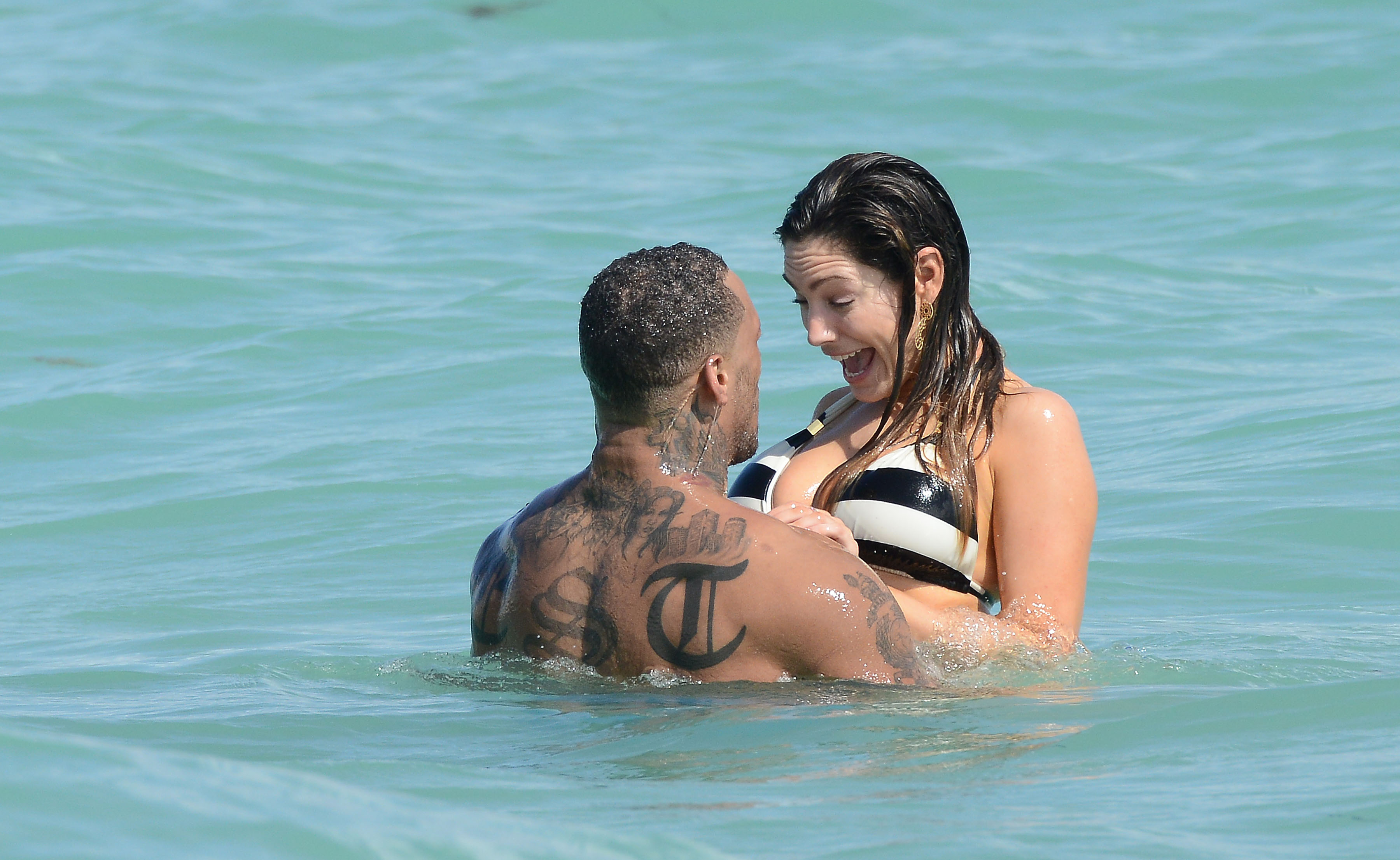Kelly Brook and David McIntosh on holiday