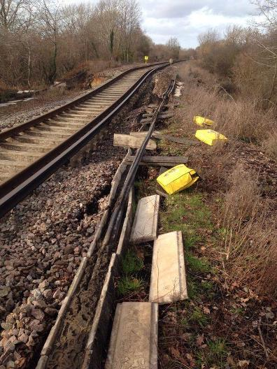 landslip Eastleigh Fareham South West Trains
