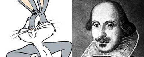 Bugs Bunny and William Shakespeare
