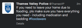 Thames Valley Police Tweet