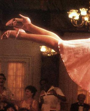 Part of a film still from Dirty Dancing