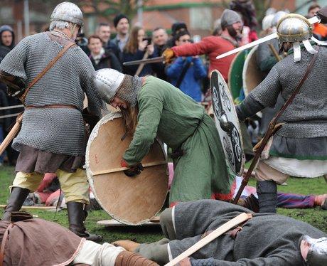 Viking battle re-enactment
