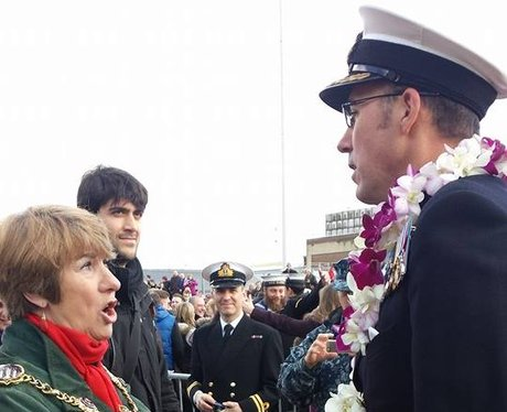 Mayor of Portsmouth says 'Welcome home'