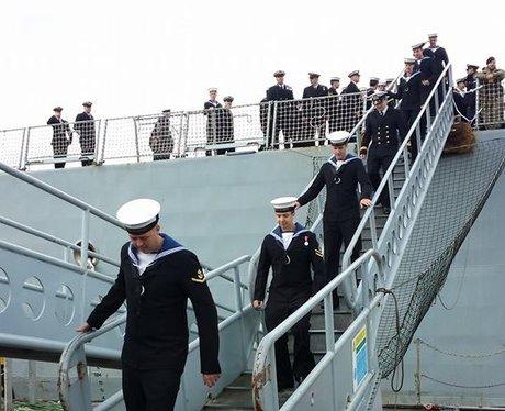 HMS Daring arrives back home