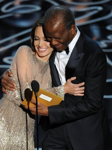 Angelina Jolie and Sidney Poitier