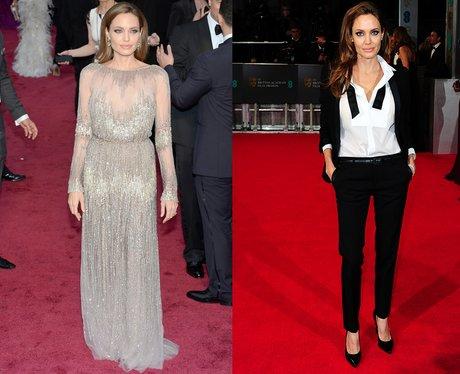 Angelina Jolie at The Oscars & The BAFTAs 2014
