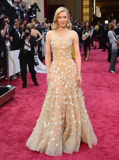 Cate Blanchett in nude at the Oscars 2014