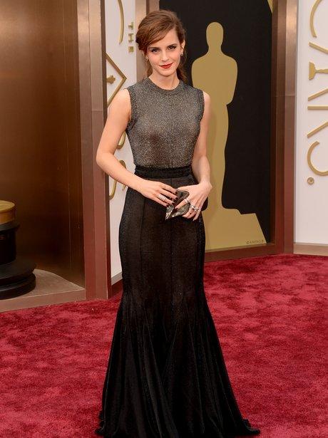 Emma Watson in a grey dress