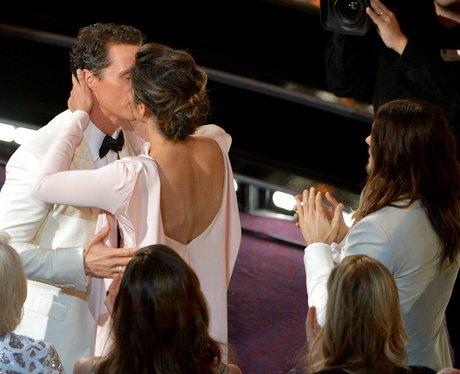 Matthew McConaughey and Camila Alves kiss
