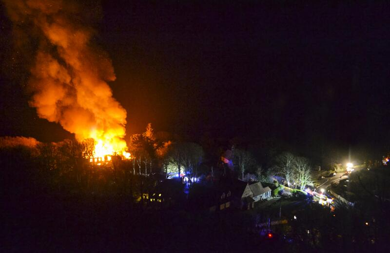 Niton Isle of Wight flat fire