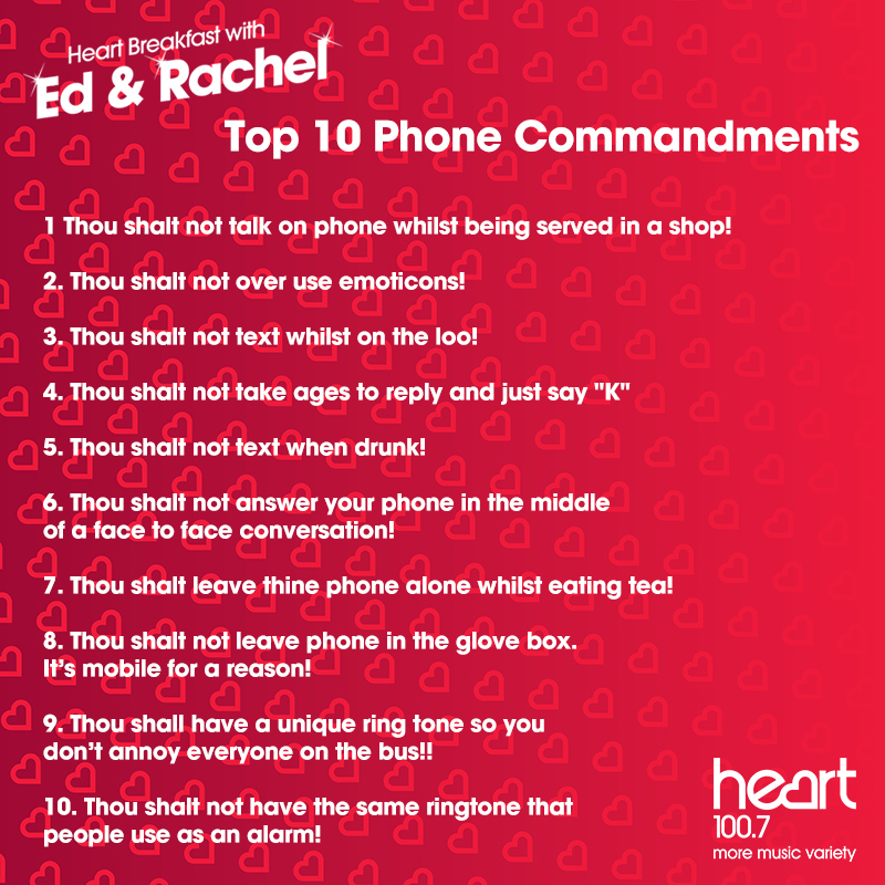 10 phone commandments