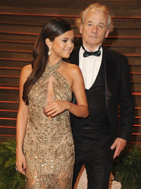 Selena Gomez and Bill Murray Photobomb