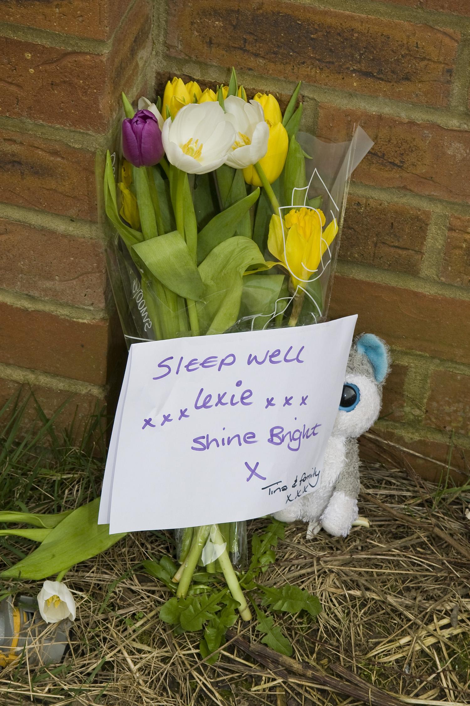 Alexa-Marie tributes flowers Hatfield Murder