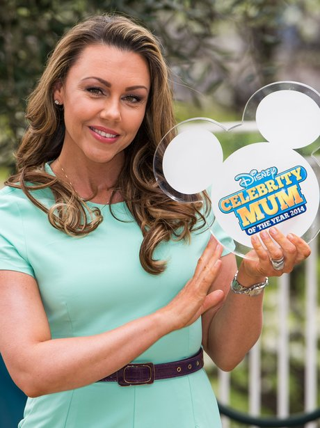 Michelle Heaton with her award