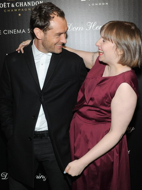 Jude Law and Lena Dunham
