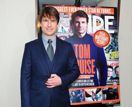Tom Cruise in a blue tuxedo