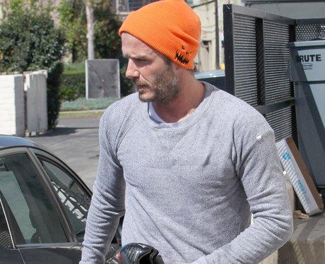 David Beckham Grey Beard