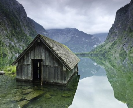 fishing hut in germany