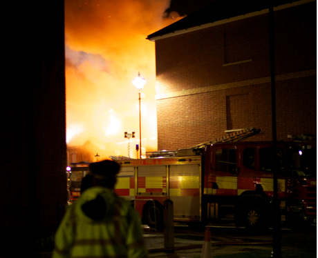 Colchester building fire