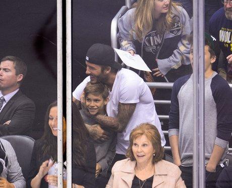 Romeo, Brooklyn and David Beckham
