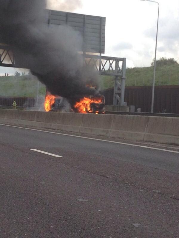 M25 Lorry Fire