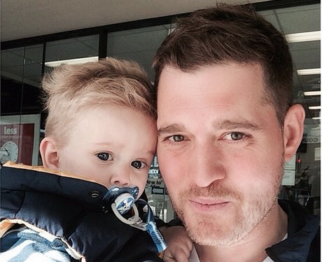 Michael Buble and baby Noah