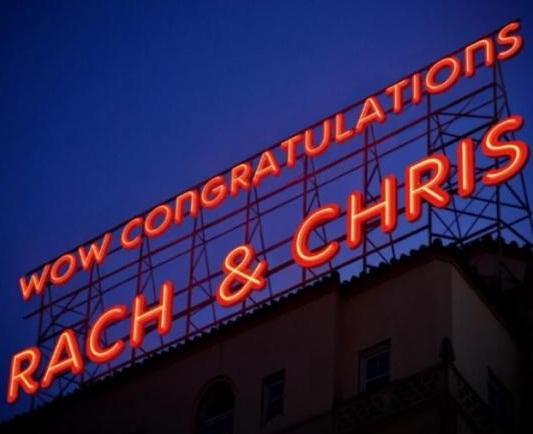 Congratulations Rachel and Chris