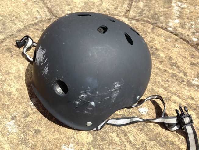 cycle helmet from Poole crash
