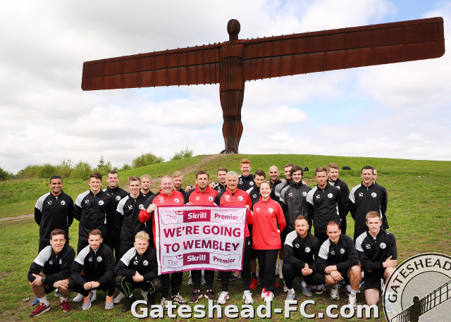Gateshead FC at Wembley for Play-off against Cambr