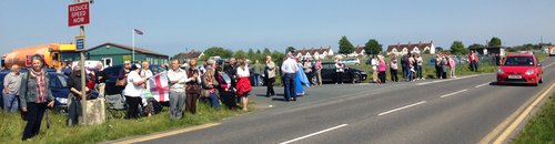 Crowds at Manston