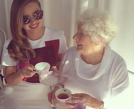 Miranda Kerr and her grandmother