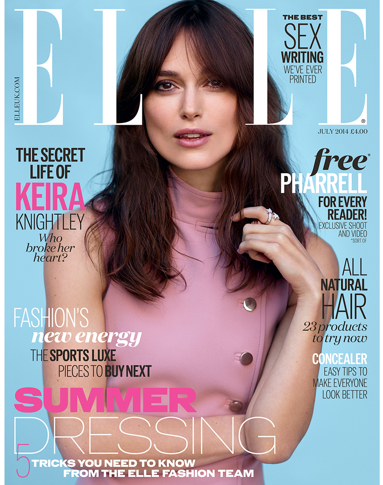 Keira Knightley Elle Uk Magazine