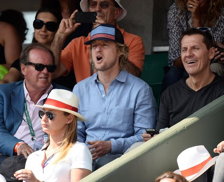 Owen Wilson watching the French Open Tennis