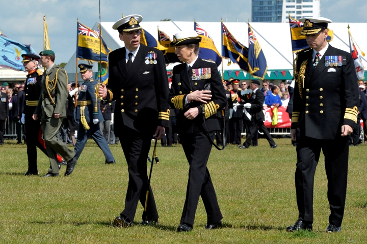 Princess Anne at D-Day commemorations in Southsea