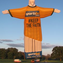Christ the Redeemer built by Cameron Balloons