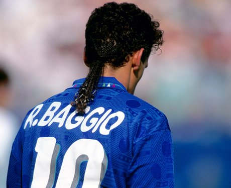 Roberto Baggio with braids in world cup 1994, Usa