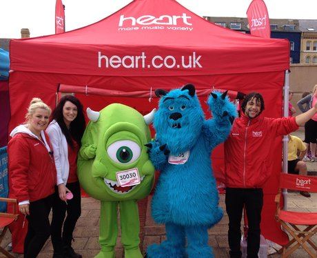 Street team with fancy dress runners.
