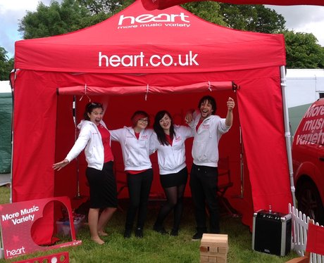 Heart Angels pose in tent.