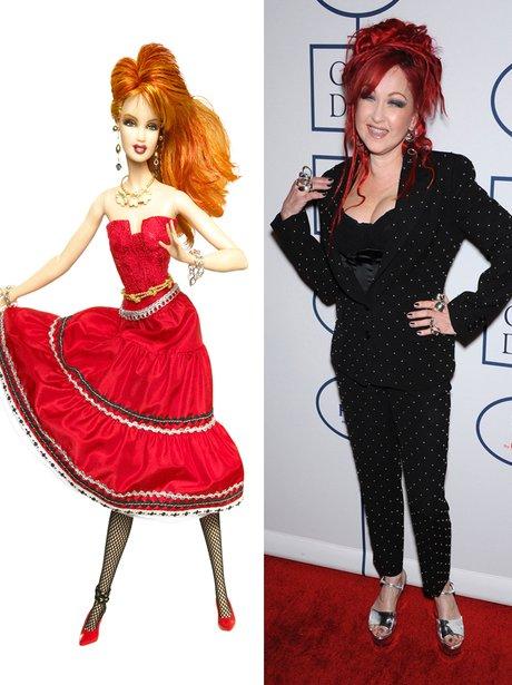 Cyndi Lauper Barbie and Cyndi