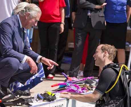 Prince William scuba dives in London.